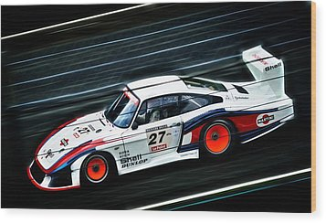 1978 Porsche 935 Moby Dick Wood Print by motography aka Phil Clark