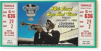 1982 Sugar Bowl Ticket Wood Print by David Patterson