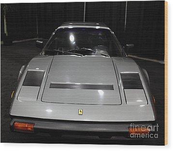1984 Ferrari 308 Gts Qv - 5d19817 Wood Print by Wingsdomain Art and Photography