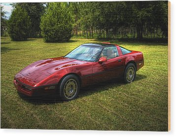 Wood Print featuring the photograph 1986 Corvette by Donald Williams