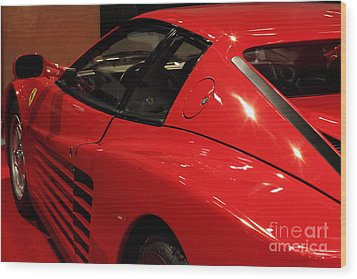 1986 Ferrari Testarossa - 5d20030 Wood Print by Wingsdomain Art and Photography