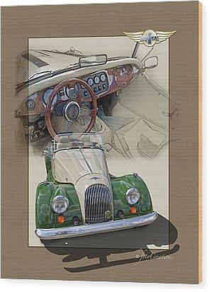 1987 Morgan Plus8 4.5 Litre Wood Print by Roger Beltz