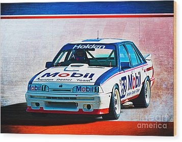 1987 Vl Commodore Group A Wood Print by Stuart Row