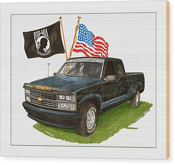 1988 Chevrolet M I A Tribute Wood Print by Jack Pumphrey