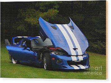 1997 Viper Hennessey Venom 650r 4 Wood Print by Davandra Cribbie