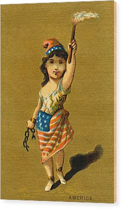 19th C. Lady Liberty  Wood Print by Historic Image