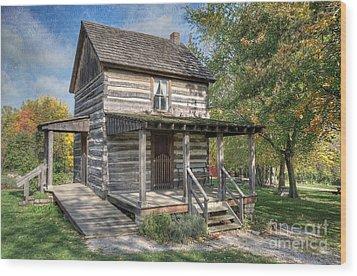 19th Century Cabin Wood Print