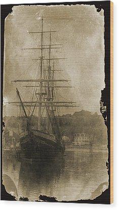 19th Century Schooner Wood Print