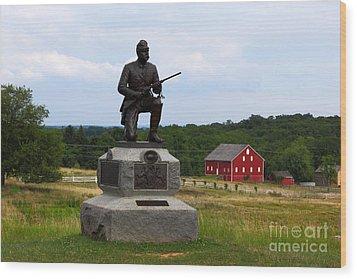 1st Pennsylvania Cavalry Defending Cemetery Ridge Wood Print by James Brunker