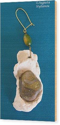 Aphrodite Earring Wood Print by Augusta Stylianou