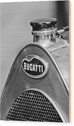 1920 Bugatti Type 13 Grille Emblem Wood Print by Jill Reger