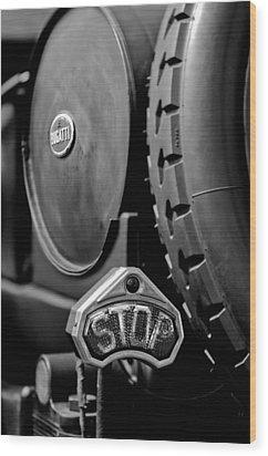 1920 Bugatti Type 13 Taillight Wood Print by Jill Reger