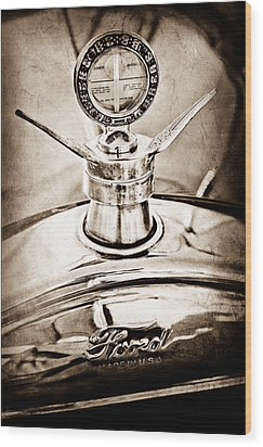 1923 Ford Model T Hood Ornament Wood Print by Jill Reger