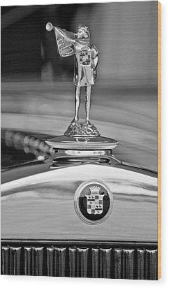 1929 Cadillac 1183 Dual Cowl Phaeton Hood Ornament Wood Print by Jill Reger