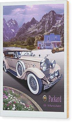 1930 Packard 740 Phaeton  Wood Print