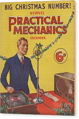 1930s Uk Practical Mechanics Magazine Wood Print by The Advertising Archives