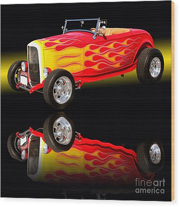 1932 Ford V8 Hotrod Wood Print by Jim Carrell