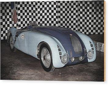 1936 Bugatti 57g Tank Wood Print by Boris Mordukhayev