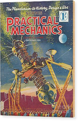 1950s Uk Practical Mechanics Magazine Wood Print by The Advertising Archives