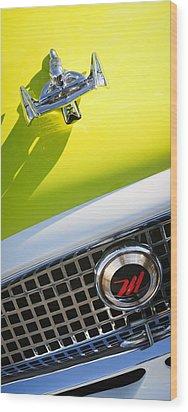 1959 Nash Metropolitan 1500 Convertible Hood Ornament - Grille Emblem Wood Print by Jill Reger