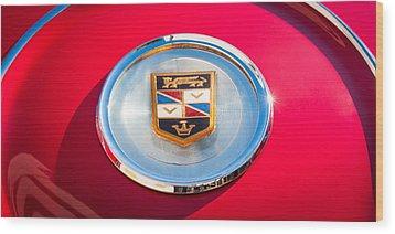 1960 Chrysler Imperial Crown Convertible Emblem Wood Print by Jill Reger