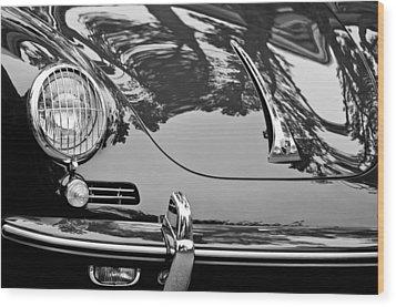 1963 Porsche 356 B Cabriolet Hood Emblem Wood Print by Jill Reger