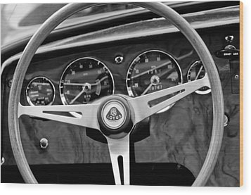 1965 Lotus Elan S2 Steering Wheel Emblem Wood Print by Jill Reger