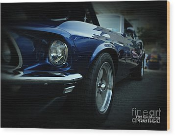 1969 Ford Mustang Mach 1 Fastback Wood Print by Paul Ward
