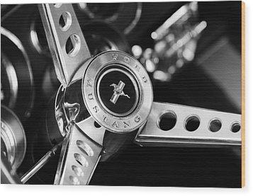 1969 Ford Mustang Mach 1 Steering Wheel Wood Print