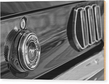 1969 Ford Mustang Taillights Wood Print by Jill Reger