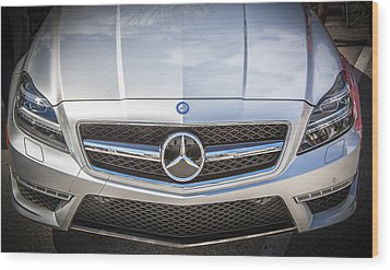 2012 Mercedes Cls 63 Amg Twin Turbo Bw Wood Print by Rich Franco
