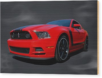 2013 Mustang Boss 302 Wood Print by Tim McCullough