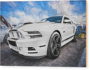 2014 Ford Mustang Gt Cs Painted  Wood Print