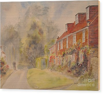 Wood Print featuring the painting A Corner Of Winchelsea by Beatrice Cloake