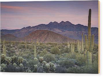 A Desert Sunset  Wood Print by Saija  Lehtonen