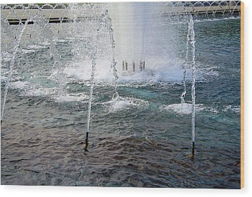 Wood Print featuring the photograph A World War Fountain by Cora Wandel