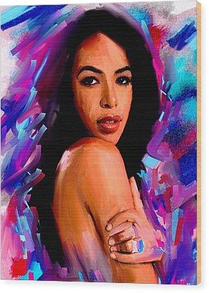 Aaliyah Wood Print by Bogdan Floridana Oana