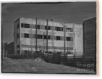 Abandoned Factory At Vadu Wood Print by Gabriela Insuratelu