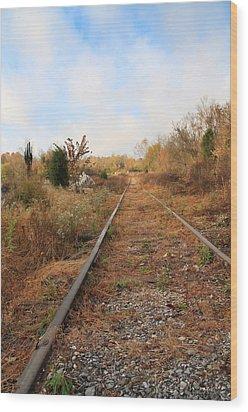 Abandoned Tracks Wood Print by Melinda Fawver