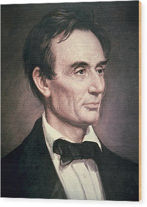 Abraham Lincoln Wood Print by George Peter Alexander Healy