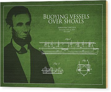 Abraham Lincoln Patent From 1849 Wood Print by Aged Pixel