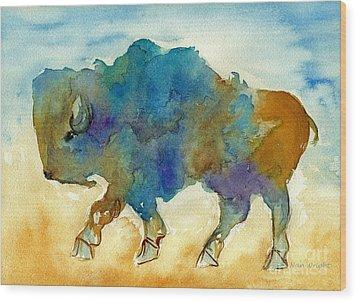 Abstract Buffalo Wood Print by Nan Wright