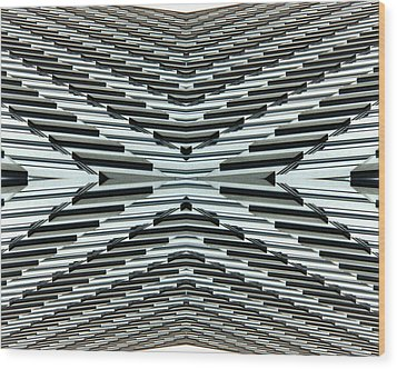 Abstract Buildings 5 Wood Print by J D Owen