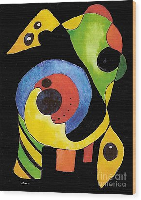 Wood Print featuring the painting Abstract Dream by Nan Wright