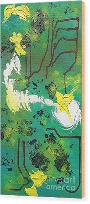 Abstract Wood Print by Kateryna Kurylo