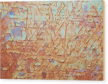 Abstract  Rust And Metal Series Wood Print by Mark Weaver
