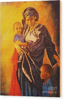African Madonna Wood Print by Dagmar Helbig