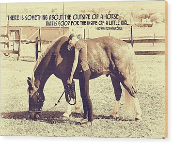 After The Competition Quote Wood Print by JAMART Photography
