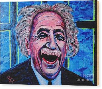 Albert Einstein Wood Print by Viktor Lazarev