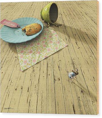 Alice Wood Print by Cynthia Decker